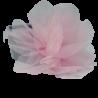 Szara opaska na głowę dla niemowlaka dziewczynki z dużym kwiatem