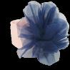 Brzoskwiniowa opaska na głowę dla niemowlaka z dużym kwiatem