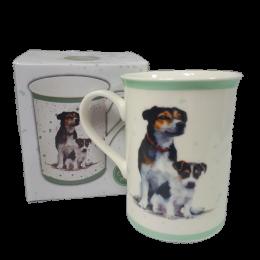 Kubek ceramiczny z psem Parson Russell terrier / kubek z terrierem