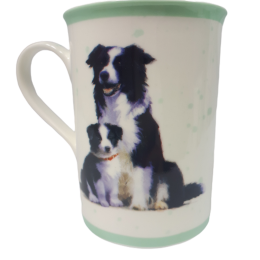 Kubek ceramiczny z psem Border Collie / kubek z border collie