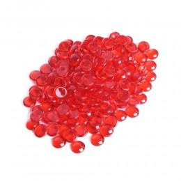 Czerwone kamienie szklane dekoracyjne / kamyki pastylki szklane