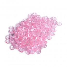 Różowe kamienie szklane dekoracyjne / kamyki pastylki szklane