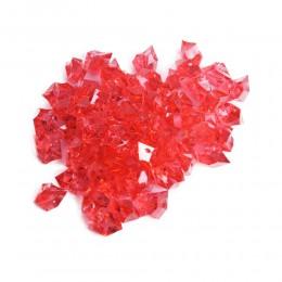 Czerwone kryształki akrylowe z dziurką kryształki kamyki dekoracyjne