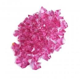 Różowe kryształki akrylowe z dziurką / kryształki kamyki dekoracyjne