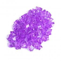 Fioletowe kryształki akrylowe z dziurką / kamyki dekoracyjne