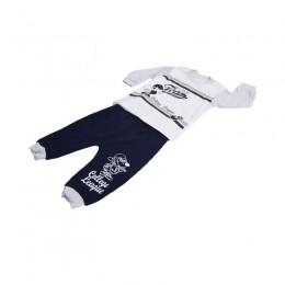 Zestaw dresik dla chłopca 68 / dres niemowlęcy 2-cz spodnie bluza