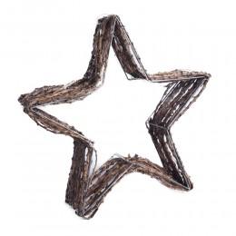 Duża gwiazda dekoracja bożonarodzeniowa / wianek osłonka z gałązek