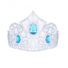 Diadem księżniczki / plastikowa korona dla dzieci niebieskimi kamykami