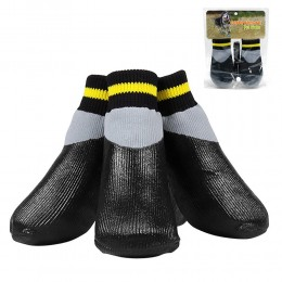 czarne wodoodporne skarpetki buty dla psa kota