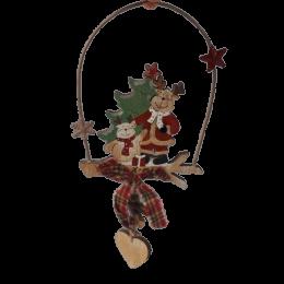 Renifery zawieszka ozdoba świąteczna dekoracja na Boże Narodzenie