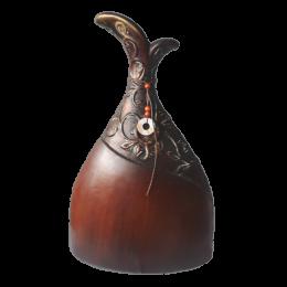 Wysoki wazon dekoracyjny ETNO w kolorze brązowym h 43 cm