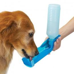 Przenośna podróżna butelka z miską dla psa 250ml / poidełko butelka