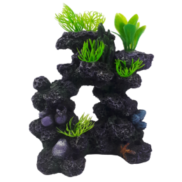 Ozdoba dekoracja do akwarium skała rośliny koralowce
