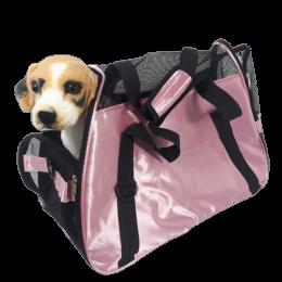 Różowa torba transportowa transporter dla psa kota DUŻA