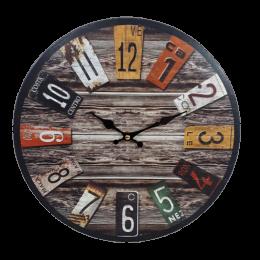Zegar ścienny wskazówkowy RETRO VINTAGE 34 cm