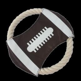 Szmaciane frisbee dla psa / brązowy latający dysk zabawka dla psów