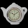 Biały zegar ścienny do kuchni CZAJNICZEK / zegar kuchenny