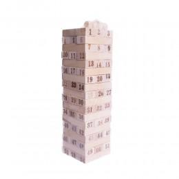 Gra rodzinna drewniana wieża JENGA chwiejąca / gra wieża z klocków