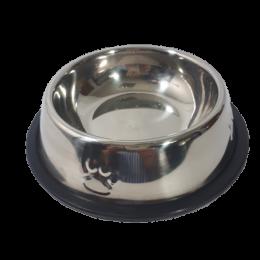 Mała miska metalowa dla psa kota na gumie antypoślizgowej 300ml