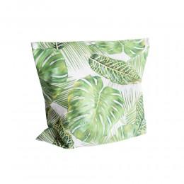Poszewka dekoracyjna na poduszkę 40x40 FILODENDRON MONSTERA zielona