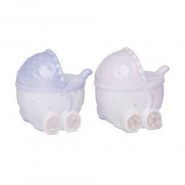 Ceramiczny mini wózek prezent na narodziny dziecka