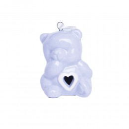 Ceramiczny niebieski miś zawieszka prezent na narodziny dziecka