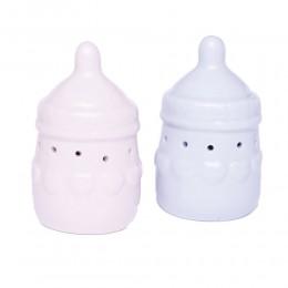 Ceramiczna butelka podświetlana prezent na narodziny dziecka