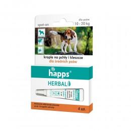 HAPPS Herbal krople na pchły i kleszcze dla średnich psów 10 - 20kg
