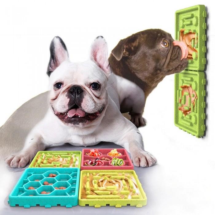 Zestaw tacek misek spowalniających dla psa do lizania pokarmów owoców