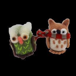 Sowa sówka OWL z filcu handmade zabawka maskotka dekoracja