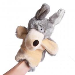 Pluszowa pacynka na rękę kukiełka maskotka WILK / zabawa w teatrzyk