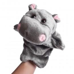 Pluszowa pacynka na rękę kukiełka maskotka dla dziecka HIPOPOTAM