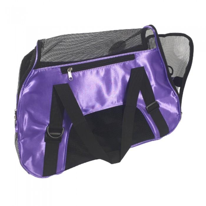 Fioletowa torba transportowa dla psa kota DUŻA 25x50x35cm