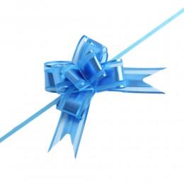 Niebieskie wstążki ściągane w kokardy