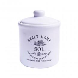 Ceramiczny pojemnik na sól z przykrywką SWEET HOME 400ml