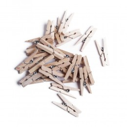 EKO mini klamerki ozdobne drewniane mini spinacze żabki 24 szt
