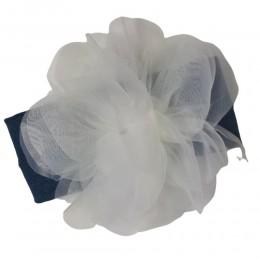 Opaska na głowę niemowlaka z eleganckim kwiatem