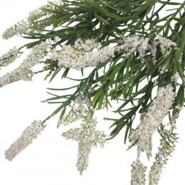 Biały wrzos sztuczny kwiat 36 cm / sztuczny wrzos gałązka