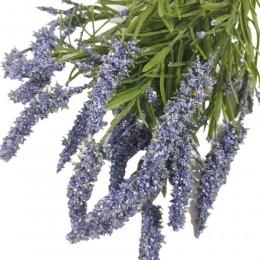 Niebieski wrzos sztuczny kwiat 36 cm / sztuczny wrzos gałązka