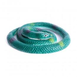 Realistyczny sztuczny gumowy wąż / zielona żmija zabawka dla dzieci