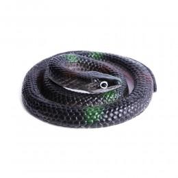 Realistyczny sztuczny gumowy wąż / czarna żmija zabawka dla dzieci