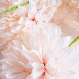 Sztuczny czosnek kwiat 3 sztuki różowy / sztuczny kwiat czosnku
