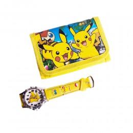 Zestaw dla dziecka portfel zegarek POKEMON PIKACHU