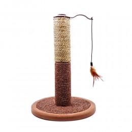 Drapak słupek dla kota z piórkami wys. 42 cm