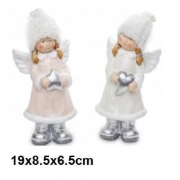 Aniołki aniołek figurka dekoracyjna na Boże Narodzenie 19cm