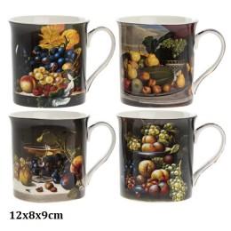 Zestaw 4 ceramicznych kubków na kawę herbatę MARTWA NATURA