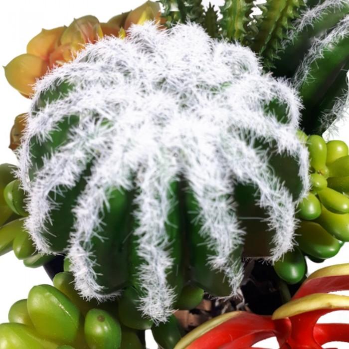 Kaktus kula 12cm na piku  do kompozycji kwiatowych / kwiaty sztuczne jak żywe