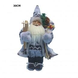 Ozdoba świąteczna figurka Świętego Mikołaja z nartami 30 cm / Mikołaj figurka