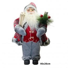 Ozdoba świąteczna figurka Świętego Mikołaja SANTA CLAUS 46 cm