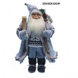 Ozdoba świąteczna figurka Świętego Mikołaja z nartami 45 cm / Mikołaj figurka